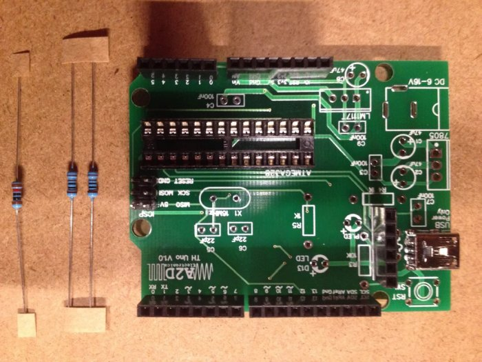 Resistors Building a DIY Arduino on a PCB and Some Tips for Beginners