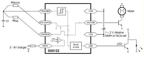 like timer includes Sub-1V 555- LED driver and charger