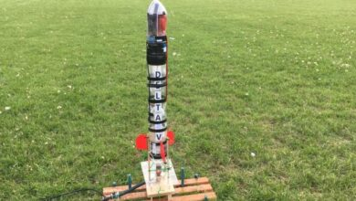 Photo of Arduino-controlled Water Rockets