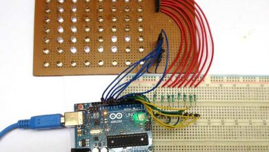 Photo of Scrolling Text Display on 8×8 LED Matrix using Arduino