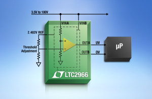 Photo of LTC2966 – 100V Micropower Dual Voltage Monitor