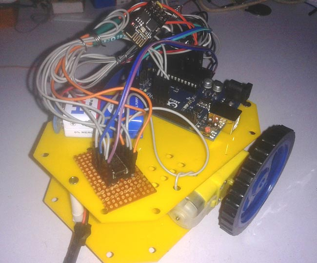 wifi controlled mobile robot using arduino
